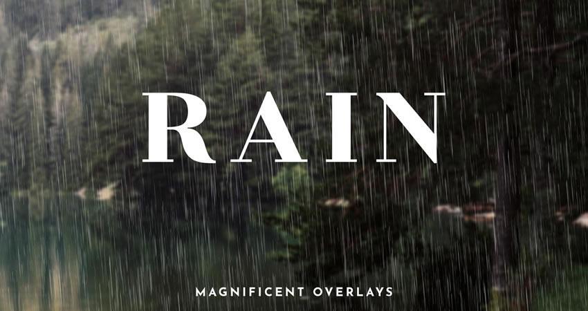 El efecto de lluvia superpone los efectos de fotografía