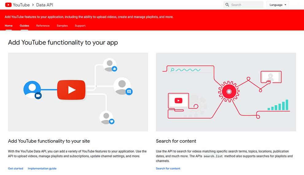 La API de datos de YouTube permite a los desarrolladores agregar aplicaciones a las funciones de YouTube.